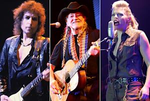 Bob Dylan, Willie Nelson and Natalie Maines.