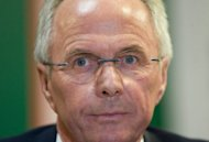 Former England boss Sven-Goran Eriksson (pictured here in mexico City in 2008) has praised England's battling 1-1 draw against the fancied French in their Euro 2012 Group D opener