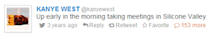 Find Your Old Tweets: How to Find Your First (Worst?) Tweet image kanye west first tweet