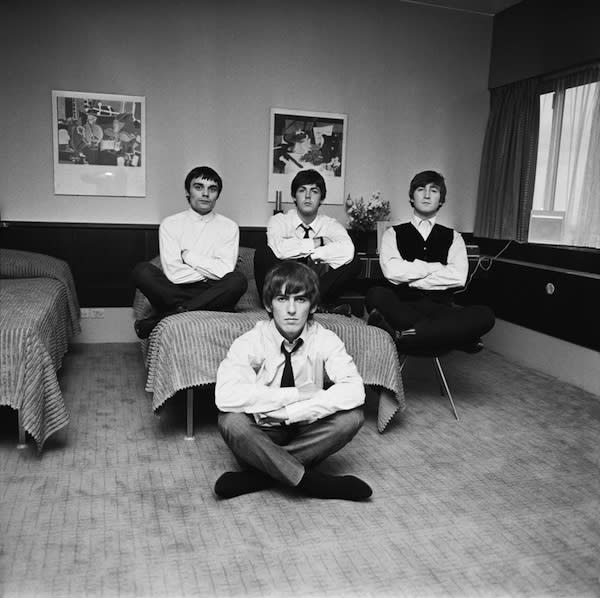 The Beatles Looking Serious (Exclusive photo)