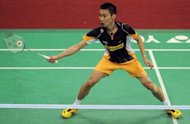 Malaysia's Lee Chong-Wei, pictured during a match played in New Delhi, in April. Lee has surrendered his world number one ranking to arch-rival Lin Dan of China after nearly four years at the top