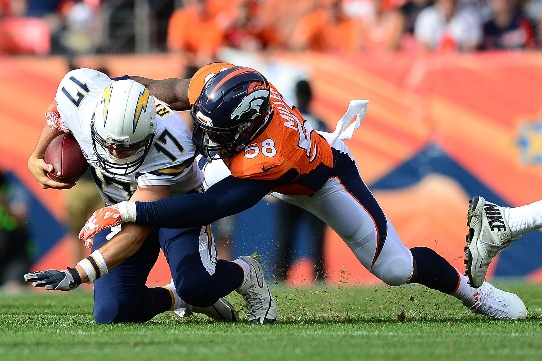 Sorry for sacking you, enjoy some wine: Von Miller sent a gift to all of his AFC West opponents. (Getty Images)