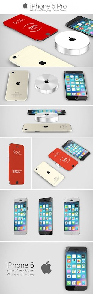This iPhone 6 Pro Concept Features Wireless Charging and iView Cover image iPhone 6 Pro