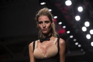 A model presents a creation from the GS Shop Lingerie…