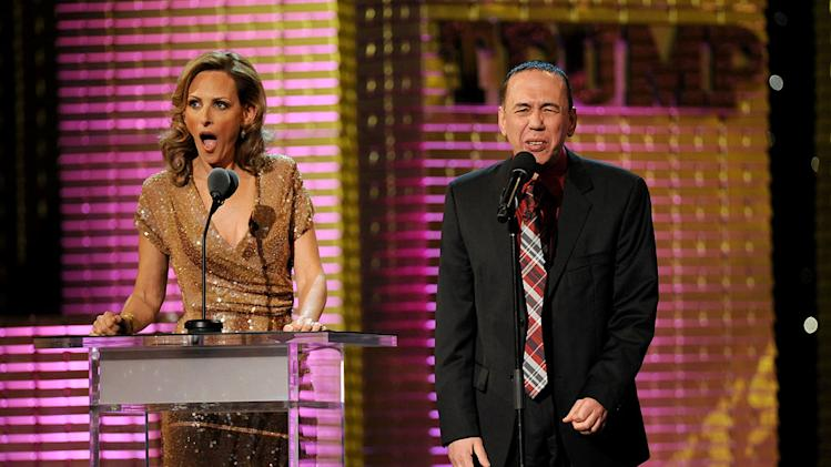 Marlee Matlin and comedian Gilbert Gottfried at the Comedy Central Roast Of Donald Trump.