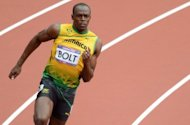 Jamaica's Usain Bolt competes in the men's 200m heats at the London Olympics on August 7. Bolt will be expected to stay on course for a repeat sprint double by booking his place in the final of the 200m following Sunday's electrifying victory in the 100m final