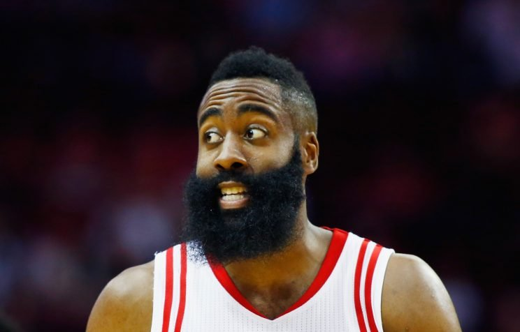 James Harden inspires his teammates with his confidence. (Scott Halleran/Getty Images)
