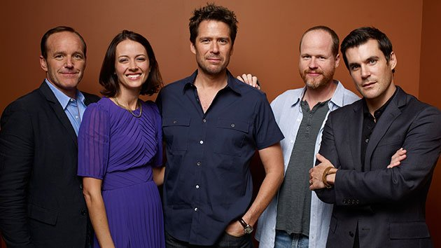 Clark Gregg, Amy Acker, Alexis Denisof, Joss Whedon and Sean Maher