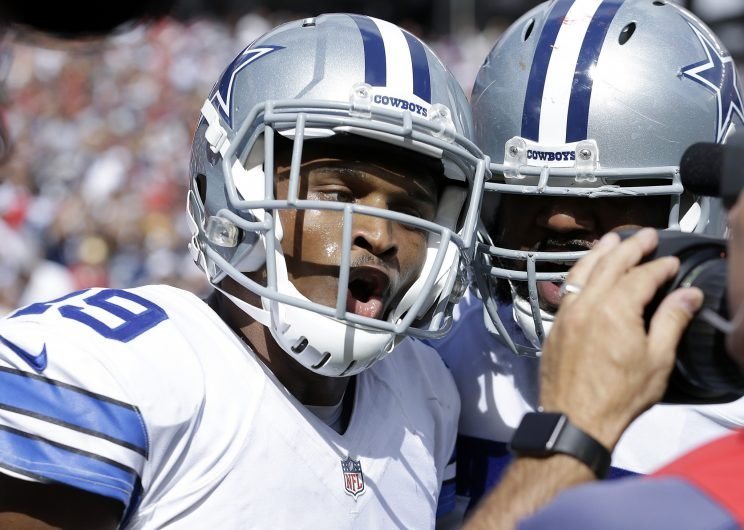 Cowboys receiver Brice Butler was called for a rare and costly penalty on Sunday. (AP)