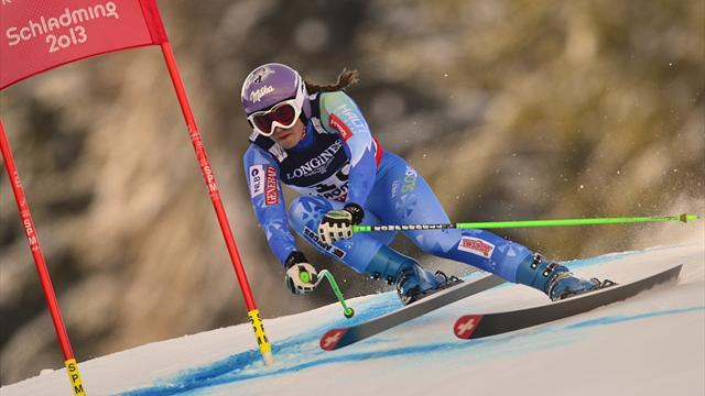 Alpine Skiing - Weirather breaks duck in Garmisch, Maze set for record