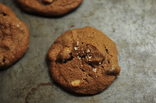 Salted Double Chocolate Chip Cookies