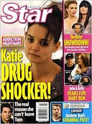 Katie Holmes is suing Star Magazine over this cover. (Photo via Entertainment Weekly)