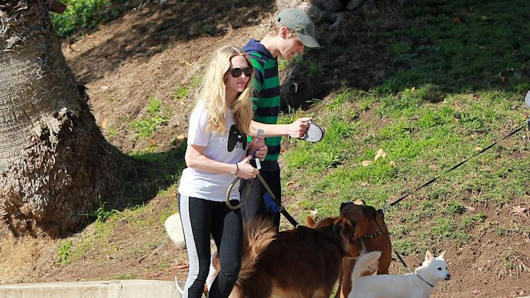 Amanda Seyfried dogwalk