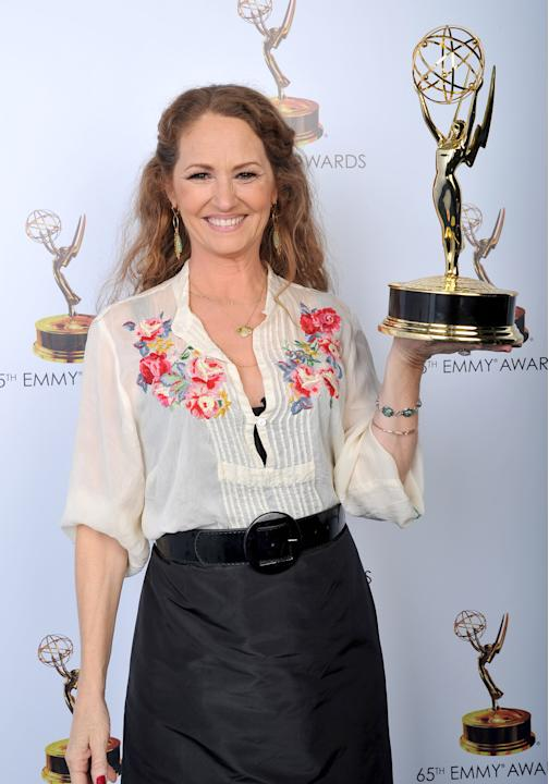 Melissa Leo poses for a portrait at the 2013 Primetime Creative Arts Emmy Awards, on Sunday, September 15, 2013 at Nokia Theatre L.A. Live, in Los Angeles, Calif. (Photo by Vince Bucci/Invision for Ac