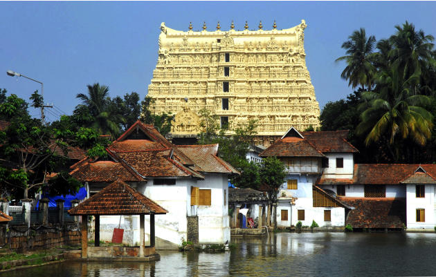 A June 27, 2011 photograph of the 16th-century Sree Padmanabhaswamy Temple in Trivandrum, the capital of the southern state of Kerala, India. A vast treasure trove of gold coins, jewels and precious s