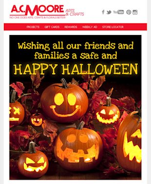 Best Seasonal Email Received This Halloween image ac moore halloween seasonal email
