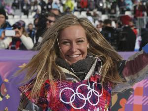 Jamie Anderson of the United States celebrates after…