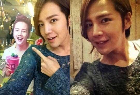 Jang Keun Suk Spots Himself in Beijing