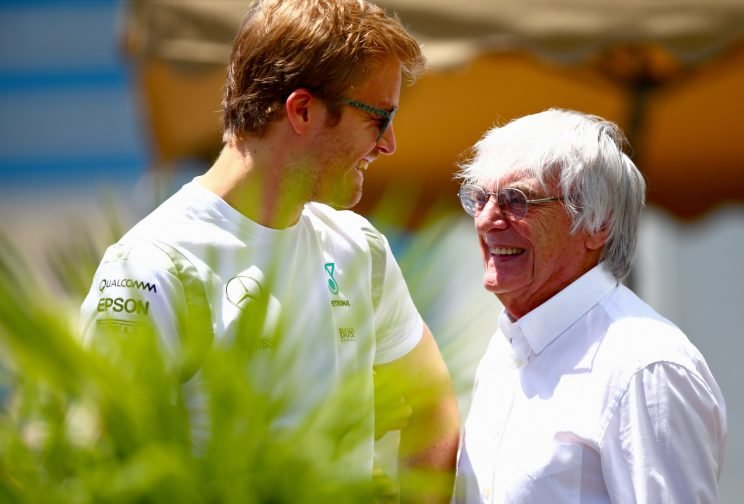 F1's chief, Ecclestone, (R) likes his new race site. (Getty Images)