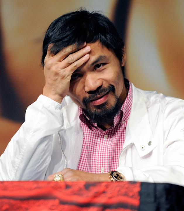 Boxer Manny Pacquiao Appears  Getty Images
