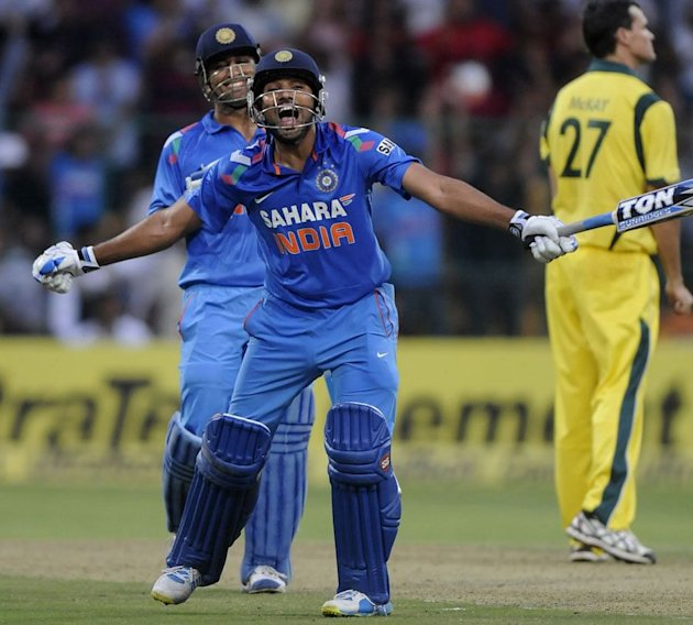 Rohit Sharma exults after reaching his double hundred