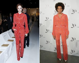 Coco Rocha (left) and Solange face off.