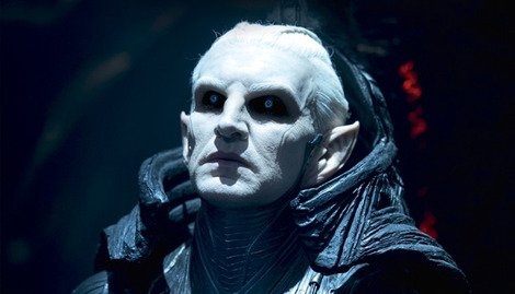 Christopher Eccleston as the Dark Elf Malekith