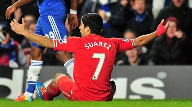 Liverpool's Luis Suarez appeals for a penalty (AFP)