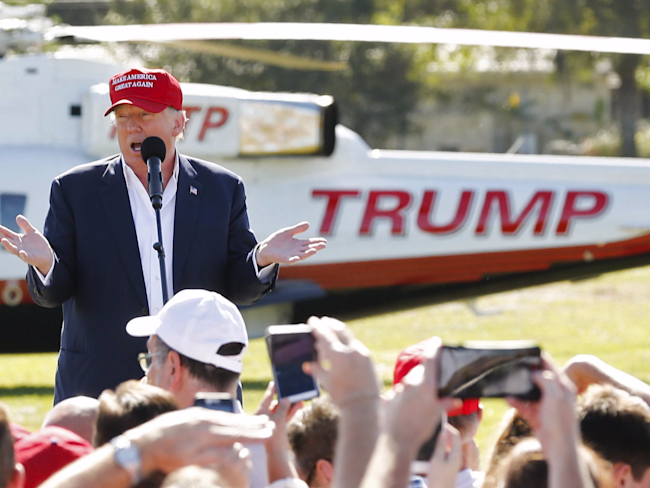 donald trump helicopter