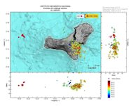 Earthquakes in the past 15 days at El Hierro in the Canary Islands.