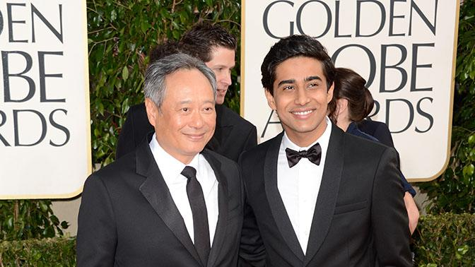 70th Annual Golden Globe Awards - Arrivals: Ang Lee and actor Suraj Sharma