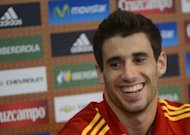 Bayern Munich's new Spain star Javi Martinez (pictured) has said he is being made to feel at home in Bavaria thanks to the efforts in speaking Spanish of his German midfield partner Bastian Schweinsteiger