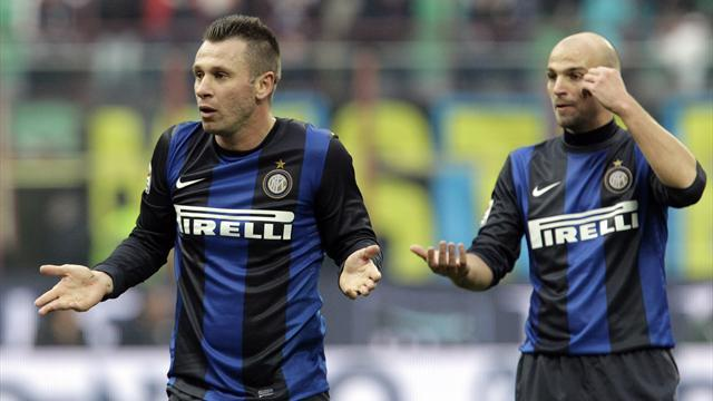 Serie A - Cassano out for Inter Milan after breaking hand