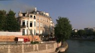 Dozens of firefighters are battling a major blaze at the 17th-century Lambert Hotel in central Paris, a private mansion that was bought by a Qatari prince in 2007, the fire service has said.