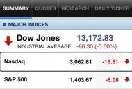 Yahoo! Finance market data on iPhone