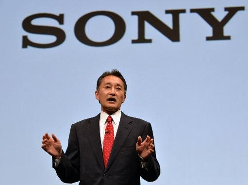 File picture shows Sony president Kazuo Hirai speaking before press at the company's headquarters in Tokyo on May 22, 2013