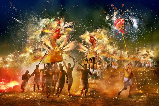"Open 'Arts and Culture' winner: Gilbert Yu, Hong Kong. 'Fire Dragon of ""Fung Shun""' was taken to document the annual ceremony which is held 15 days after the start of Lunar N"