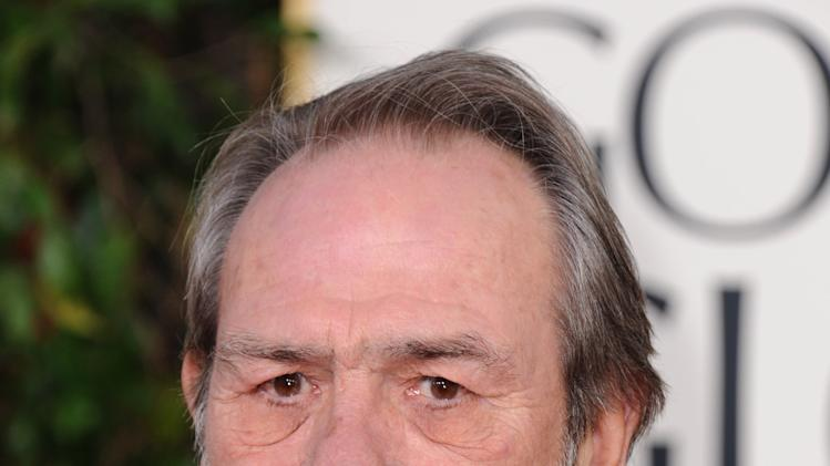 Actor Tommy Lee Jones arrives at the 70th Annual Golden Globe Awards at the Beverly Hilton Hotel on Sunday Jan. 13, 2013, in Beverly Hills, Calif. (Photo by Jordan Strauss/Invision/AP)