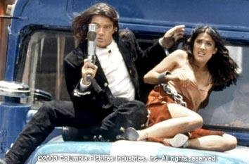 Antonio Banderas and Salma Hayek in Columbia's Once Upon a Time in Mexico