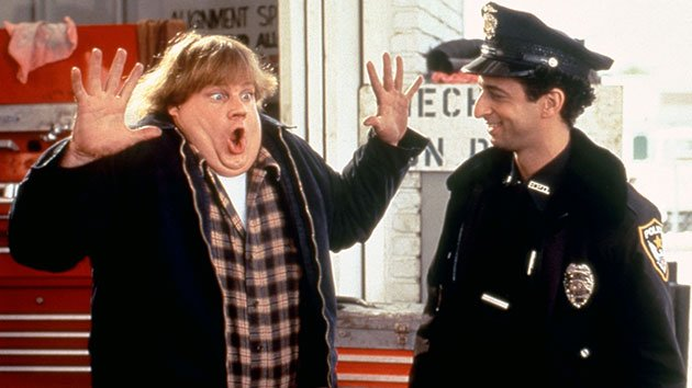 Chris Farley and Grant Heslov