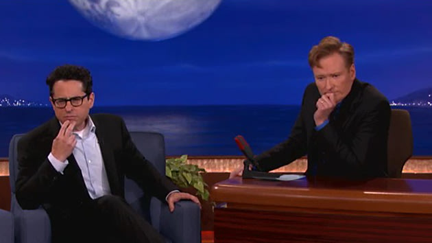 J.J. Abrams and Conan O'Brien