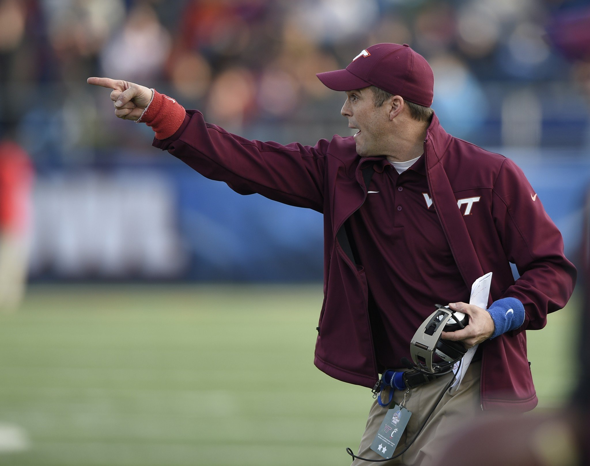 Shane Beamer coached at Virginia Tech under his father Frank. (AP)
