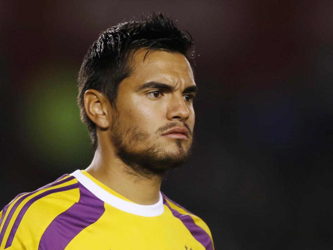 Argentina's goalkeeper Romero looks on during a friendly soccer match against Trinidad and Tobago in Buenos Aires