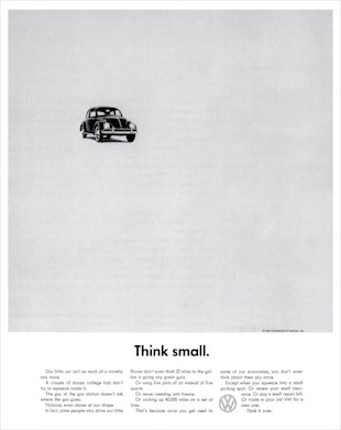 11 Copywriting Tips From Leo Burnett image Think Small 812x1024