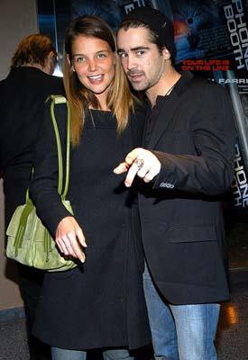 Katie Holmes and Colin Farrell at the New York premiere of 20th Century Fox's Phone Booth
