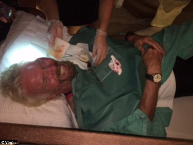 Billionaire Richard Branson Cheats Death In Bike Crash