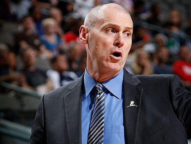 Rick Carlisle, and the headset perched behind the back of his neck. (Getty Images)