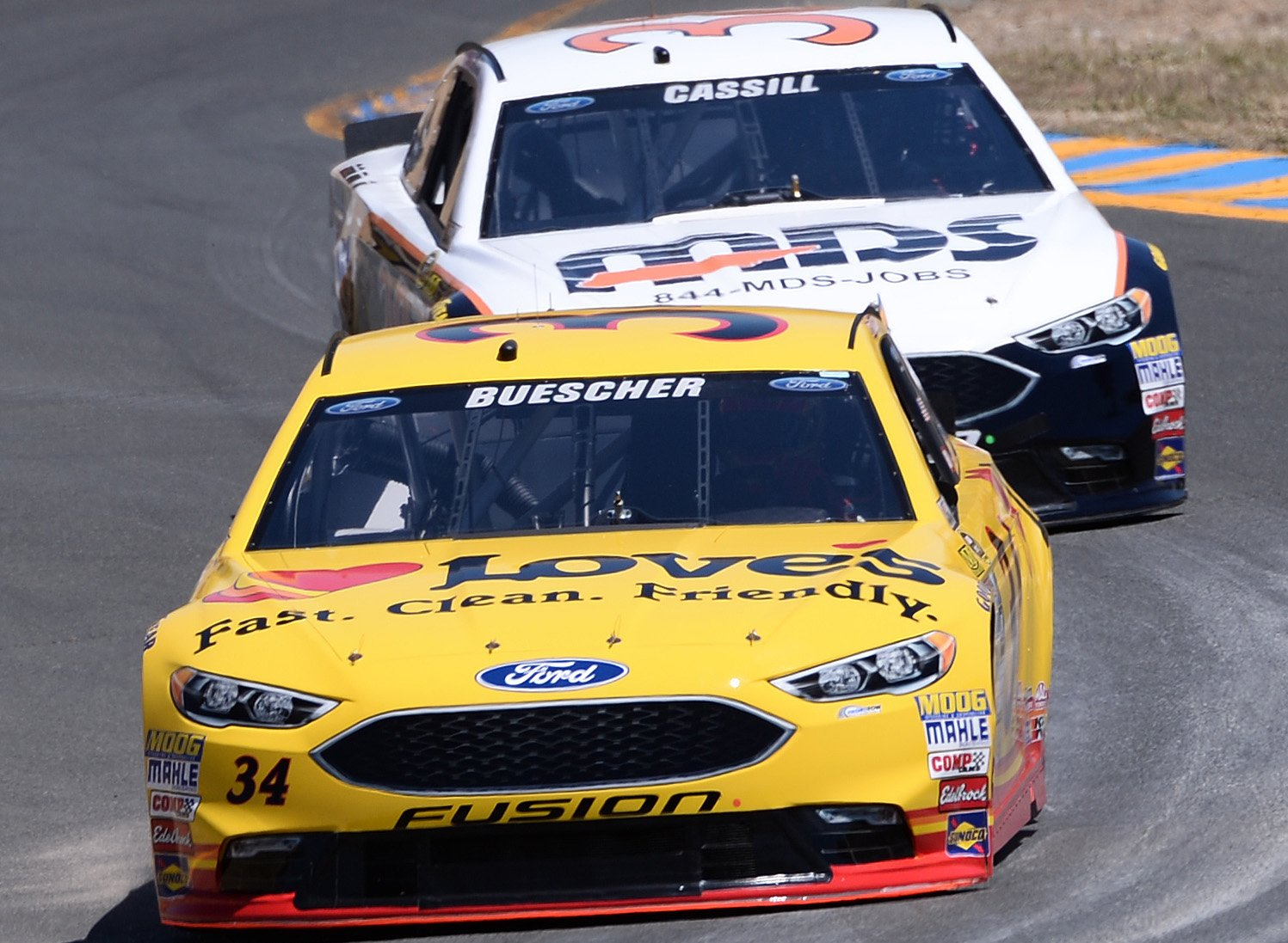 Chris Buescher made the Chase because of his Pocono win and will drive for a different team in 2017. (Getty)