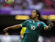 Mexico's hopes of upsetting Brazil in the Olympic men's final on Saturday have suffered a major blow after Tottenham striker Giovani dos Santos, pictured on August 1, was ruled out with a muscle injury