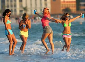 Bikini-Clad Vanessa Hudgens Gets Wasted in Spring Breakers Scene